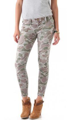 Trend Alert: Camouflage : Celebrities in Designer Jeans from Denim Blog (October 19, 2012)