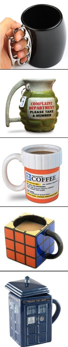 These are some of the coolest coffee mugs EVER!!!  #GiftIdeas http://www.isavea2z.com/brass-knuckle-fist-coffee-mug-fathers-day-gift-idea/