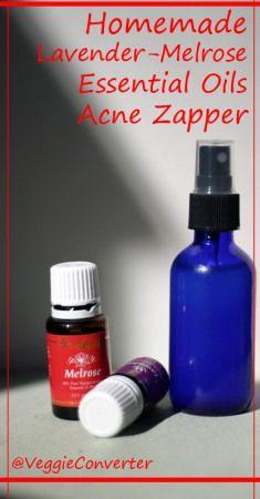 Homemade Lavender Melrose Zit Zapper | @VeggieConverter #essentialoils #diybeauty