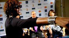 Whitney Houston last kiss goodbye to Clive Davis, Monica and Brandy at I...