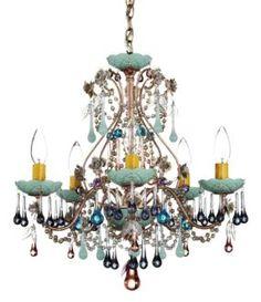$600 - Dining Room - Schonbek Rose Mint Julep Crystal Chandelier | LampsPlus.com