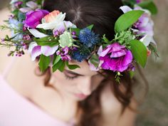 romantic floral head crown utah wedding florist calie rose