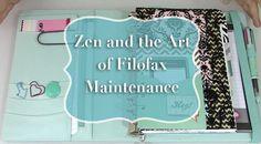 Zen and the Art of Filofax Maintenance - Strange & Charmed Time Planner, Kikki K Planner, Planner Ideas, Zen, Journal Cards, Journal Ideas, Calendar Organization, Leather Bound Books, Jet Pens