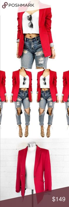 Rag & bone red blazer Super chic staple piece! Great for work or play! I take all photos myself of the actual item. No trades. Always open to offers. Needs a good dry cleaning rag & bone Jackets & Coats Blazers