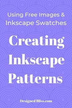 Create Inkscape Patterns for your vector art designs to sell. Use your inkscape patterns with the pattern fill command. Text Design, Vector Design, Design Design, Vector Art, Vector Illustrations, Vector Graphics, Inkscape Tutorials, Cricut Tutorials, Cricut Ideas