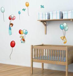 sticker decorativo rapaz com balões