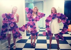 Alpha Chi Omega at the University of Tennessee - Purple flowered Philanthropy letters