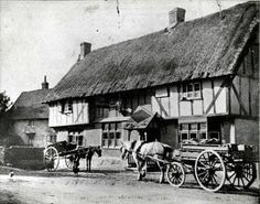 The Half Moon pub, Kempston, 1900.