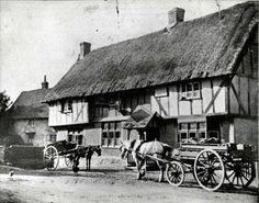 The Half Moon pub, Kempston, 1900.