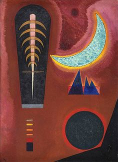 Wassily Kandinsky — Loses im Rot No. 298, 1925