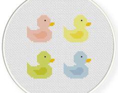 INSTANT DOWNLOAD Stitch Color Ducks PDF Cross Stitch Pattern Needlecraft