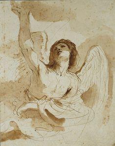 Guercino, Angel, 17th century, Ashmolean Museum, Oxford
