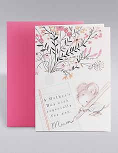 Dan's Mouse Floral Mother's Day Card