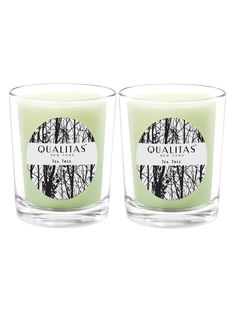Qualitas Candles Tea Tree Beeswax Candles (Set of 2) (6.5 OZ)