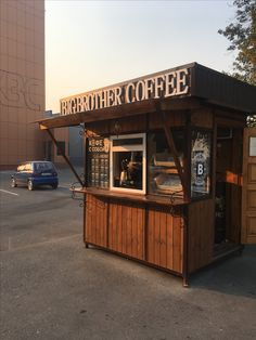 Big Brother Coffee Source by okkott… Starting A Coffee Shop, Small Coffee Shop, Coffee Shop Bar, Coffee Store, Coffee Cafe, Cafe Shop Design, Kiosk Design, Mini Cafeteria, Arquitetura