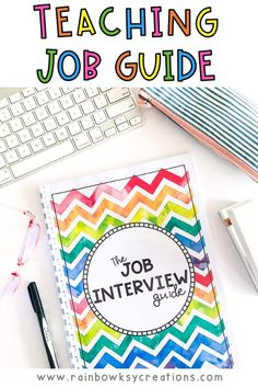 Our Job Interview Guide for Teachers document is a place to brainstorm, learn and collate all the awesome information you need to score a teaching job, whether you are a brand new teacher or someone who has been teaching for a while. Our teacher job guide includes loads of information, professional tips, and templates to help you write applications and attend interviews with confidence and ease. Job Interview Tips, Resume and Cover Letter Tips #rainbowskycreations Teaching Jobs, Teaching Resources, Teaching Ideas, Interview Guide, Job Interview Tips, Jobs For Teachers, First Year Teachers, Job Guide, Cover Letter Tips