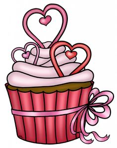 free hearts-cupcake-COLOR, or uncolored