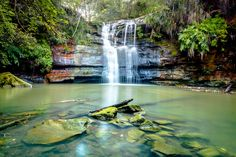 Lovers Jump Creek waterfall is a great local photography spot in Ku-ring-gai and can be accessed from the walking track off Burns rd, Turramurra.