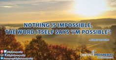 Nothing is impossible when you focus on something! at http://www.jamesfrancis.com we can guide you! #DigitalProsperity
