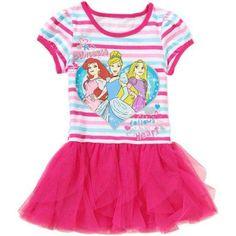 Disney Princesses Toddler Girl Tee Shirt Dress, Size: 3 Years, Pink