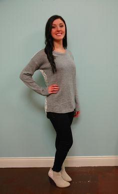 Lace Back Sweater! Love it!