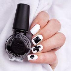 simple geometric nails bmodish