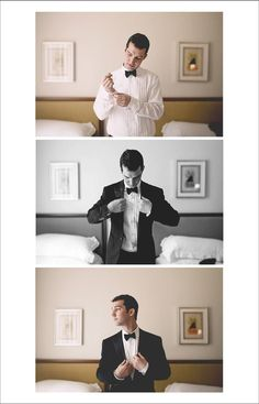 I want pictures of the groom getting ready