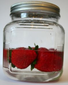Soak strawberries in whipped cream  flavored vodka for 24 hours then dip in melted chocolate and let set.Takes Chocolate Covered Strawberries to a whole new level!