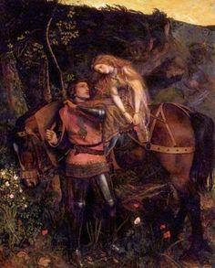 Arthur Hughes British, 1832 - 1915 La Belle Dame Sans Merci  Date: 1861-3