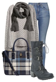 Untitled #912 by mkomorowski on Polyvore featuring polyvore, fashion, style, Topshop and Tory Burch