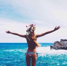 Bikini with flower band