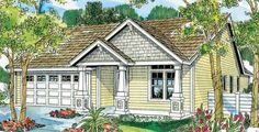 Preston 30-675 - Charm, simplicity and economy are all plusses with this eye-catching Craftsman cottage home plan.