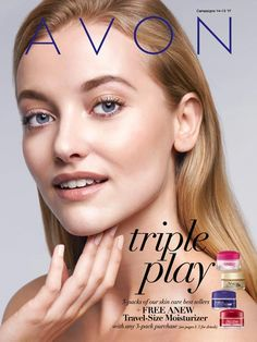 Avon Campaign 14 Triple Play ANEW Skin Care Flyer Online 2017 - Sale dates June 10 to June 26 2017 - view current Avon brochure online at http://barbieb.avonrepresentative.com