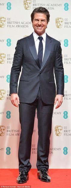 Tom Cruise in Armani   BAFTA 2015
