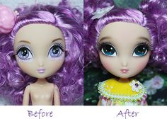 Repaint La Dee Da Doll-- I should be practicing on these dolls I don't care about