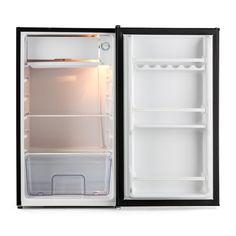 Compra Klarstein Alleinversorger Nevera con congelador (espacio de 90 litros, congelador 7 L, clase A+, 2 bandejas y compartimiento en puerta, elegante diseño) - negro en Amazon.es