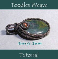 wire jewelry Tutorial The Toodles Weave with wire - Weaving a pendant and a ring - Wire Tutorials, Jewelry Making Tutorials, Wire Jewelry Making, Wire Wrapped Jewelry, Amber Jewelry, Crystal Jewelry, Beaded Jewelry, Silver Jewelry, Wire Crafts