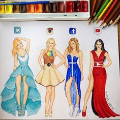 Wich one is your favorite?? So amazing social queens by @edgar_artis Follow us! Tag your friends