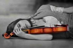 Girl with violin...
