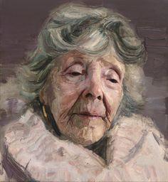 Flo O'Riordan - Portrait oil painting by contemporary artist Colin Davidson