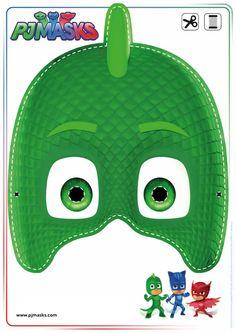 Printables - PJ Masks Owlette, Gekko, & Catboy Masks | All Mommy Wants