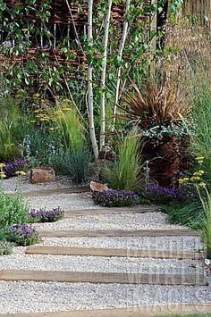 backyard designs – Gardening Ideas, Tips & Techniques Gravel Landscaping, Gravel Garden, Garden Paths, Gravel Driveway, Driveway Ideas, Gravel Path, Coastal Landscaping, Landscaping Ideas, Small Garden Design