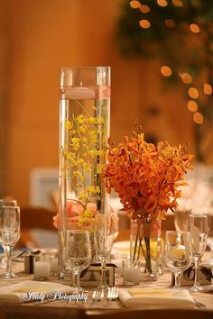 Simple and lovely centerpieces from Elegant Designs!