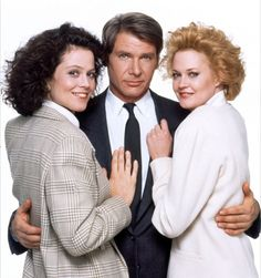 """Harrison Ford with Sigourney Weaver  Melanie Griffith in """"Working Girl"""" (1988); loved this movie."""