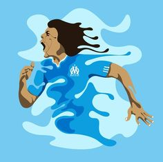 """It's a Goooaaal!"" by Marcos Behrens, Olympique de Marseille official art (http://www.artofbrands.com/wo_en/om)"