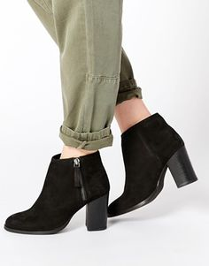 ASOS EVERYBODYS FOOL Leather Ankle Boots