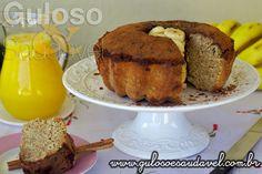 Vai bem ao #lanche um delicioso Bolo de Banana Integral, não? É sem culpa, também #SemLactose, vem ver a receita então!!!  #Receita aqui: http://www.gulosoesaudavel.com.br/2013/08/02/bolo-de-banana-integral/