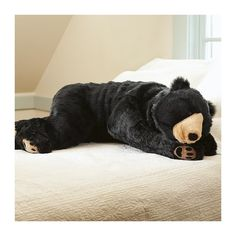 Snuggle up with our bear hug body pillow. This large plush black bear looks like a lifesize bear cub. This is a sweet black bear body pillow everyone can love. We Bear, Bear Cubs, Bear Sleeping Bags, Giant Plush, Hug Pillow, Duvet, By Any Means Necessary, Kids Pillows, Throw Pillows