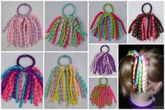 Make all the little girls rainbow ribbon hair ties! So cute!