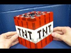 LEGO Block of TNT - Minecraft - YouTube Tnt Minecraft, Minecraft Crafts, Lego Sculptures, Lego Blocks, Custom Lego, Lego Creations, Legos, Kale Food, Cube